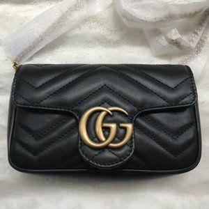 NWT Authentic  GG Marmont super mini Shoulder bag